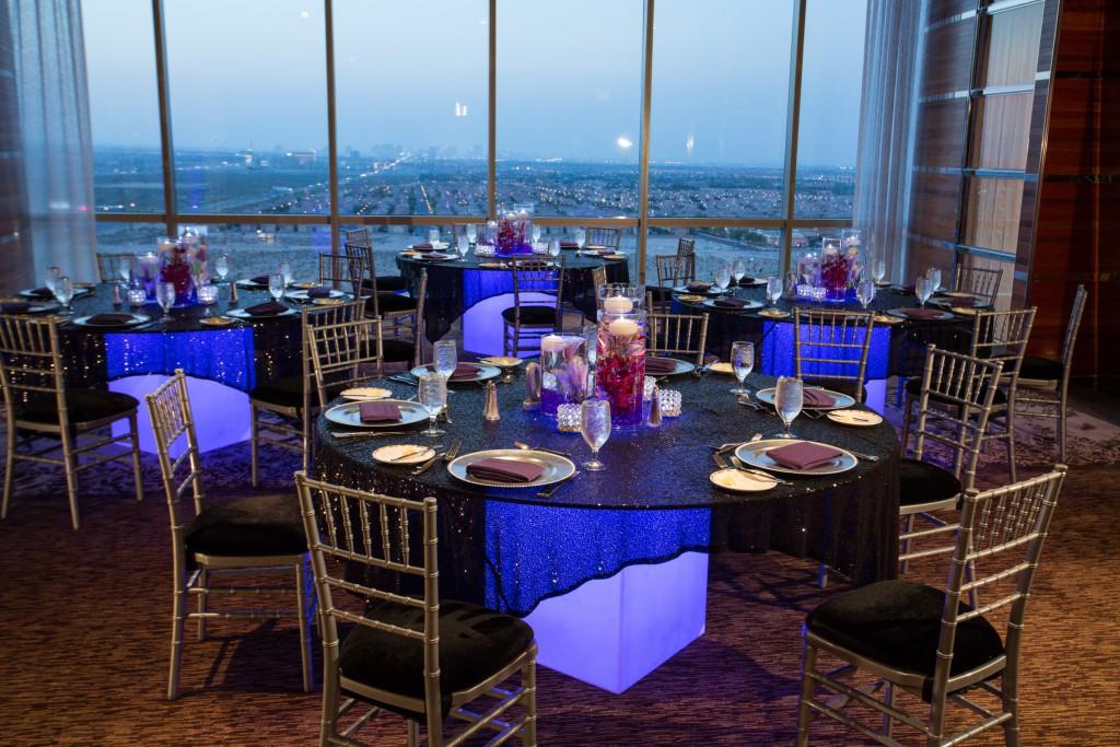 Purple and White Wedding By Dzign Las Vegas 8