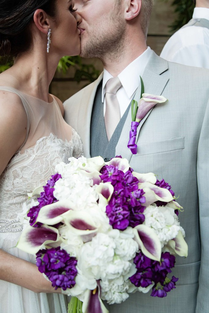 Purple and White Wedding By Dzign Las Vegas 7