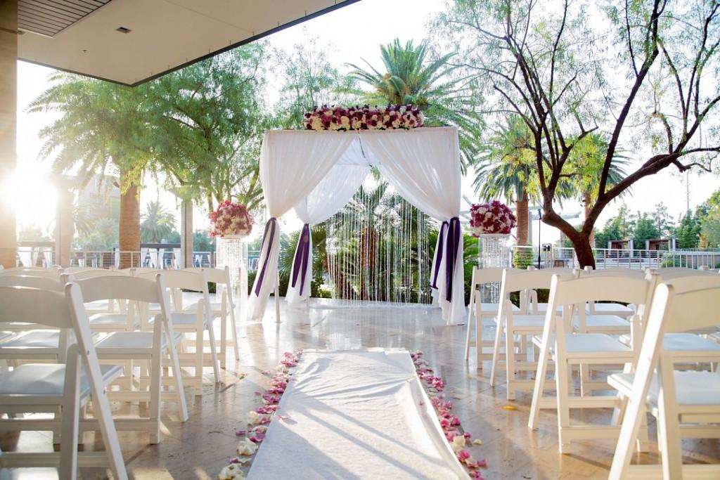 Purple And White Wedding Dreams At M Resort Las Vegas