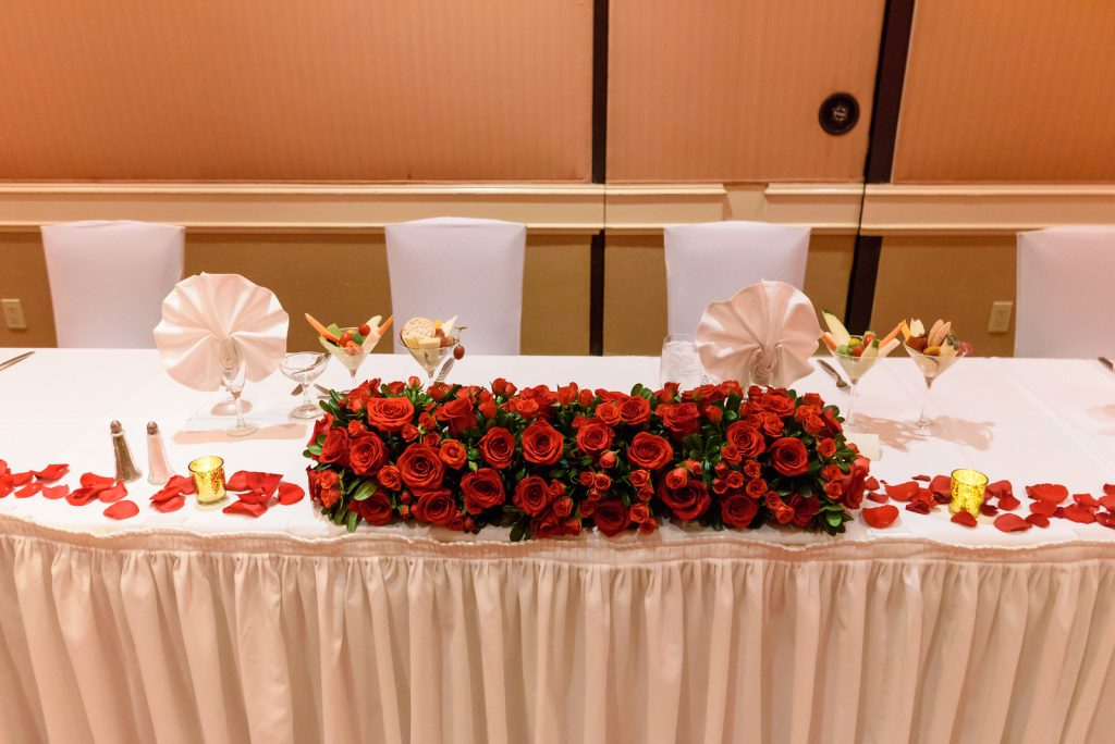 red rose wedding by dzign las vegas wedding 9